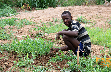 Working on a community-led seedlings nursery project in Somali region, Ethiopia © Malini Morzaria/EU/ECHO